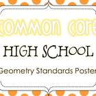 Common Core High School Geometry Standards Posters {Polka