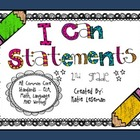"Common Core ""I Can Statements"" {2nd Garde} Chalk Pencil Theme"