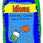 Common Core Idiom Task Cards and Literacy Center