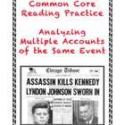 Common Core Informational Text Grades 7-9: The JFK Assassination