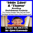 Common Core Main Idea & Theme Enrichment Writing Project Menu