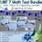 Common Core Math 3rd Grade Assessment PACK UNIT 7 (MD.1-2, 7-8)