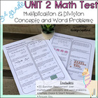 Common Core Math 3rd Grade Unit 2 Assessment OA.1-4