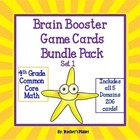 Common Core math 4th Grade Brain Booster Game Cards Bundle