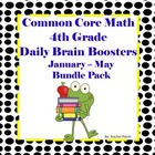Common Core Math Spiral 4th Grade Daily Brain Boosters Jan