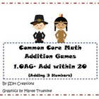 Common Core Math Addition Games: Add Within 20 (1.OA6): Us