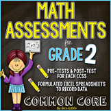 Common Core Math Assessments for Grade 2 - All Standards Included