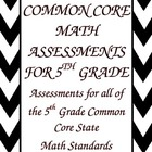 Common Core Math Assessments for the 5th Grade