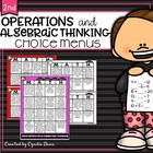 Common Core Math Choice Boards {Operations and Algebraic T