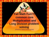 Common Core Math Fall  Multiplication and Division Problem