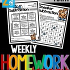 Common Core Math Homework - Grade 2 - Term 3