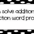 "Common Core Math ""I Can"" Statements 1st Grade- Black and White"
