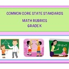 Common Core Math Kindergarten Rubrics