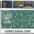 Common Core Math - Middle School Math - Grades 5 - 7