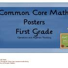 Common Core Math Objectives Posters: Operations & Algebrai