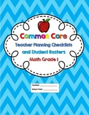 1st Grade Common Core Math Checklists and Student Rosters