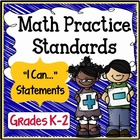 Common Core Math Practice Standards Grades K-2