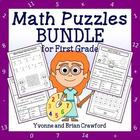 Common Core Math Puzzles Bundle - 1st Grade