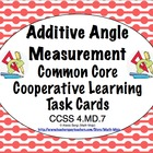 Common Core Math Task Cards - Additive Angle Measurement C