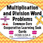Common Core Math Task Cards Multiplication & Division Word