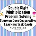 Common Core Math Task Cards Multiplication  (Double Digit)