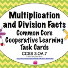 Common Core Math Task Cards - Multiplication and Division