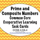 Common Core Math Task Cards - Prime and Composite Numbers