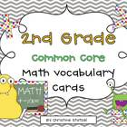 Common Core Math Vocabulary Cards {2nd Grade}