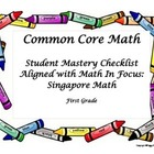 Common Core Math Checklist Aligned to Math In Focus: Singa