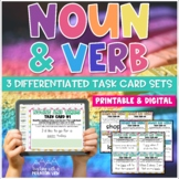 Common Core Noun and Verb Task Cards 3 DIFFERENTIATED SETS!