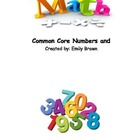 Common Core Number Sense Math Assessments