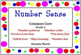Common Core Number Sense-Number Order, Greater/Less Than,