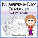 Common Core Number a Day Math Worksheets (fifth grade)