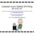 Common Core Opinion Writing