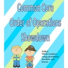 Common Core Order of Operations Showdown 5.OA.1