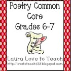 Common Core Poetry for Grades 6-8