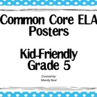 Common Core Posters - 5th Grade ELA