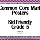 Common Core Posters - 5th Grade Math