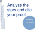 Common Core Posters: Middle School ELA Reading Literature