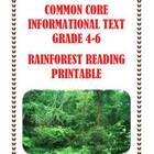 Common Core Reading Assessment: The Amazon Rainforest