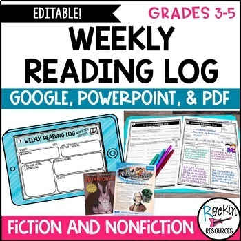 Common Core Reading Response Log for Fiction and Non Fiction