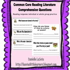 Common Core Reading Response: Reading Literature Standards