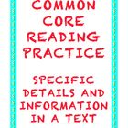 Common Core Reading RI.4.3: Specific Details in an Informa