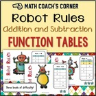 Common Core: Robot Rules! Addition & Subtraction Function Tables