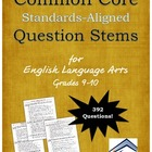Common Core Sample Question Stems for ELA: Grades 9-10