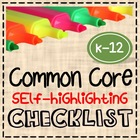 Common Core Self-Highlighting Checklist