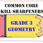 Common Core Skill Sharpeners: Grade 3 Geometry