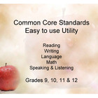 Common Core Standands - Print and Keep Track - Grades 9-12