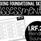 Common Core Standard Language Arts Assessment 1.RF.2 (1.RF.2b)