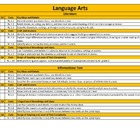 Common Core Standards Checklist 1st Grade Language Arts